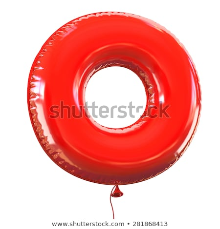 Red glossy font Letter O 3D Stock photo © djmilic