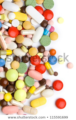 Red and blue full medical pill capsule with medicine Stock photo © MarySan