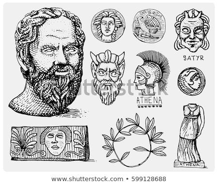 Sketch of the Greek amphora. Vector illustration Stock photo © Arkadivna