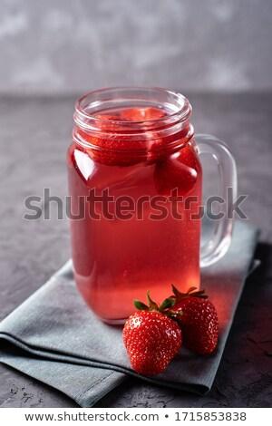 Freddo estate Berry sciroppo bere cocco Foto d'archivio © grafvision