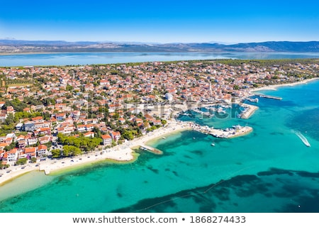 Adriatic town of Pakostane waterfront aerial view stock photo © xbrchx