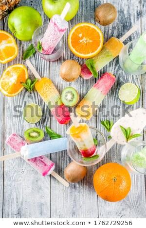 Fruit ijs kleurrijk variëteit vers vruchten Stockfoto © BarbaraNeveu