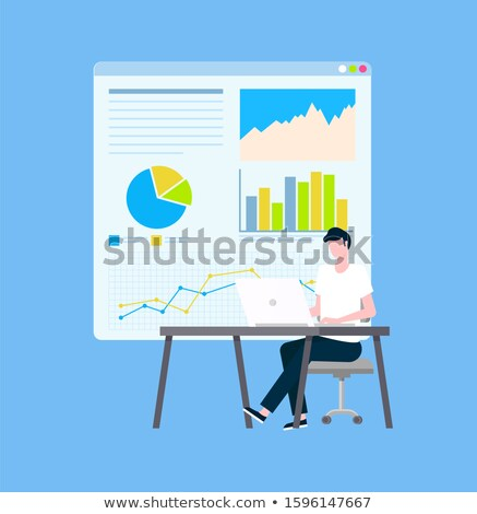 Secure Payments Statistics and Graphics, Operator Stock photo © robuart