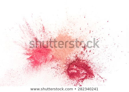 Witte kleurrijk kleurstof poeder abstract Stockfoto © serdechny