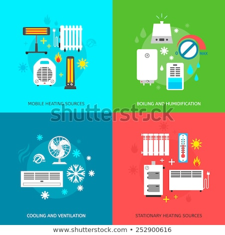 Elektronische fan verwarming verwarming uitrusting vector Stockfoto © pikepicture