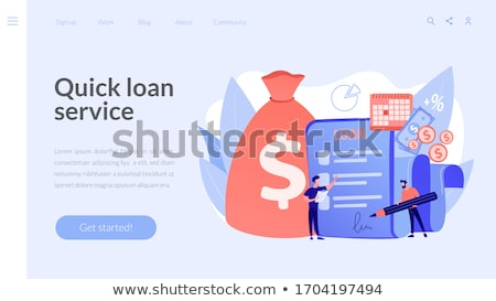 Loan disbursement concept landing page Stock photo © RAStudio
