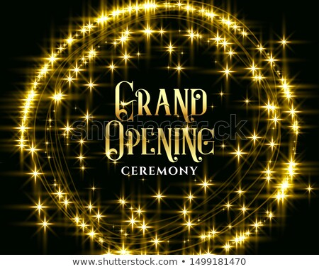 Arany nyitás terv háttér csillag bolt Stock fotó © SArts
