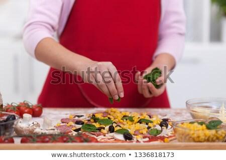 hazırlık · sos · fesleğen · domates · sosu · gıda - stok fotoğraf © ilona75