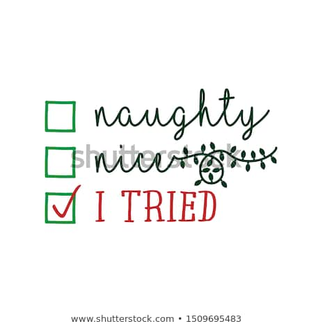 Vicces karácsony idézet remél huncut lista Stock fotó © balasoiu