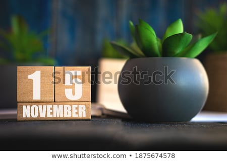 Cubes calendar 15th November Stock photo © Oakozhan