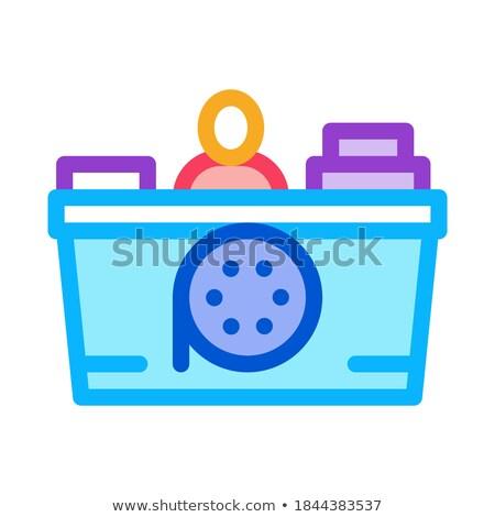 Verkoper icon vector schets illustratie Stockfoto © pikepicture