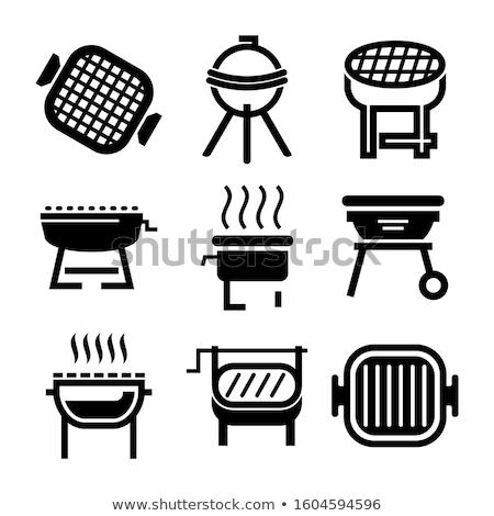 Carvão vegetal fogo ícone vetor ilustração Foto stock © pikepicture