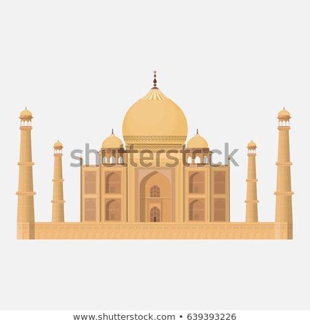 Taj Mahal temple repère silhouette Asie Inde Photo stock © ShustrikS