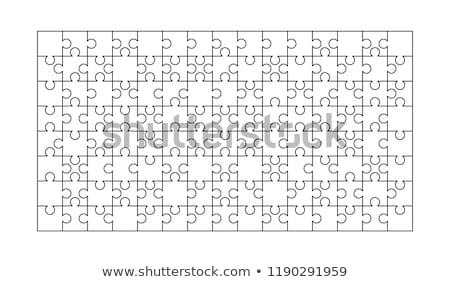 120 white puzzles pieces arranged in a rectangle shape. Jigsaw Puzzle template ready for print. Cutt Stock photo © evgeny89