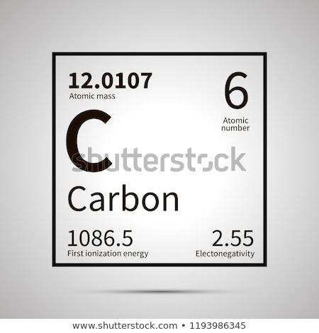 Carbono químico elemento primeiro energia atômico Foto stock © evgeny89