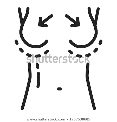 silicone breast augmentation icon vector outline illustration Stock photo © pikepicture