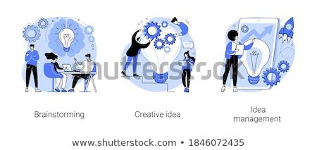 Idéia gestão vetor metáfora implementação startup Foto stock © RAStudio