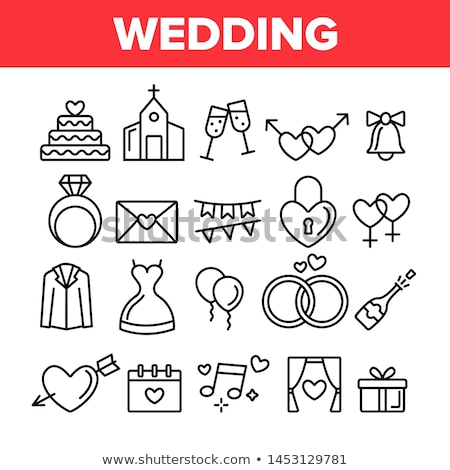 Male And Female Gender Sign Wedding Vector Icon Stock photo © pikepicture
