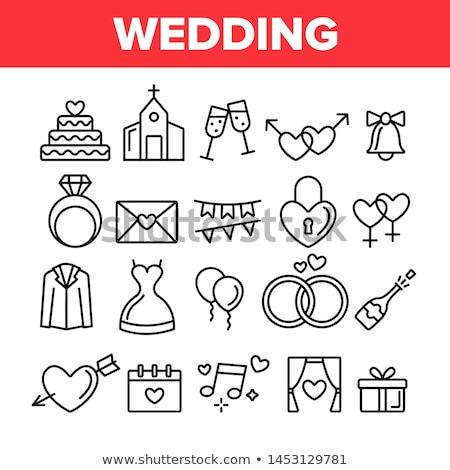 Mannelijke vrouwelijke geslacht teken bruiloft vector Stockfoto © pikepicture