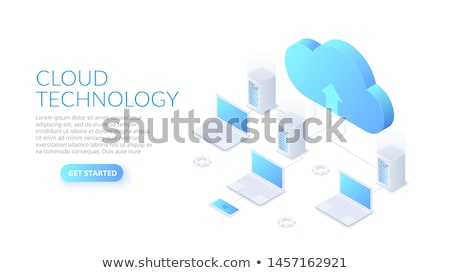 Backup server concept landing page. Stock photo © RAStudio