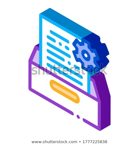 Document Treat isometric icon vector illustration Stock photo © pikepicture