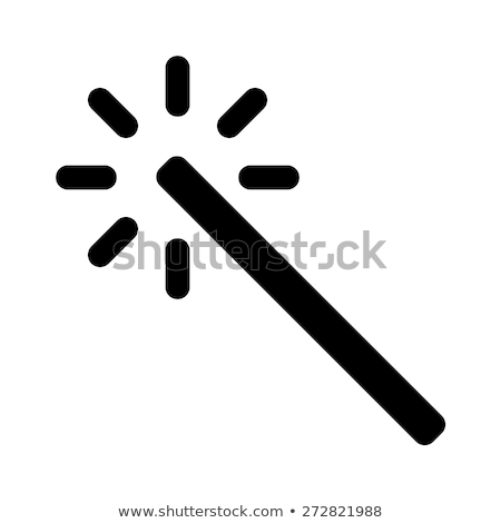 Magician Wizard Icon Vector Outline Illustration Stock photo © pikepicture