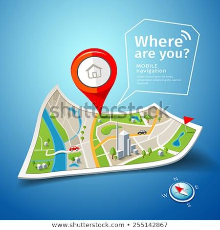 Green location map Stock photo © Forgiss