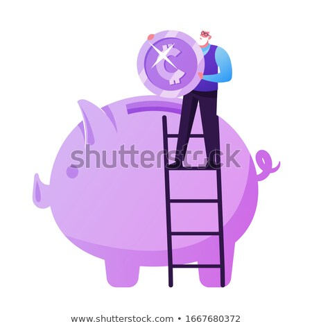 getting money out of piggy bank Stock photo © gewoldi