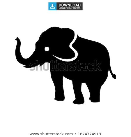 Слоны · дороги · слон · знак · Шри · Ланка - Сток-фото © joyr