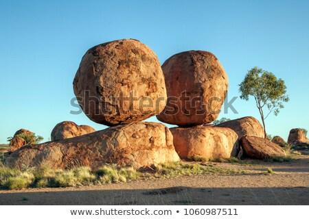 Knikkers Australië noordelijk gebied reus graniet Stockfoto © kikkerdirk