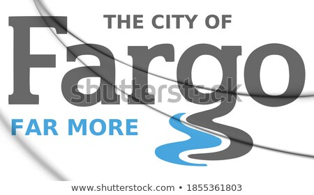 desenho · animado · linha · do · horizonte · silhueta · cidade · Dakota · do · Norte · EUA - foto stock © blamb