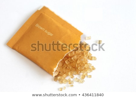 brown sugar cubes in sugar paper bag Stock photo © illustrart