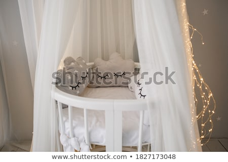 baby in cot Stock photo © phbcz