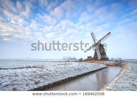 Traditional windmill in winter Stock photo © RazvanPhotography