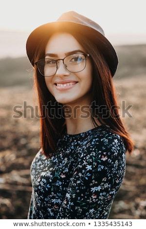 mutlu · kız · güzel · kız · zemin - stok fotoğraf © zastavkin