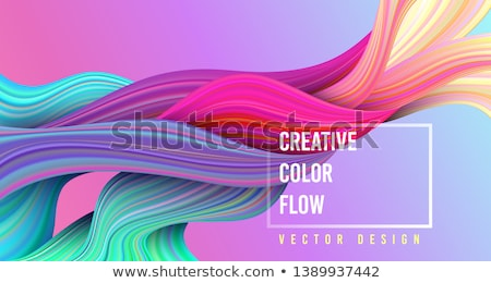 Abstract Wave Background With Multycolor Stok fotoğraf © MarySan