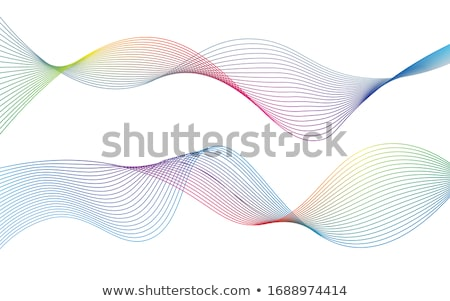 Сток-фото: Abstract Wavy Background With Futuristic Architecture Vector Illustration