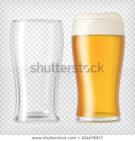 Dois alto óculos cerveja foto um Foto stock © sumners