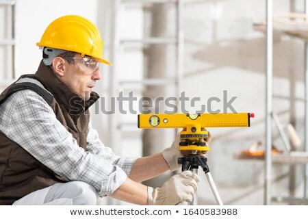 nivel · herramienta · maduro · amarillo - foto stock © photography33