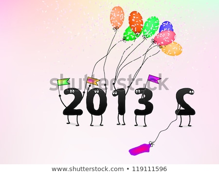 2013 New Year card. Vector, EPS8. Stock photo © pashabo