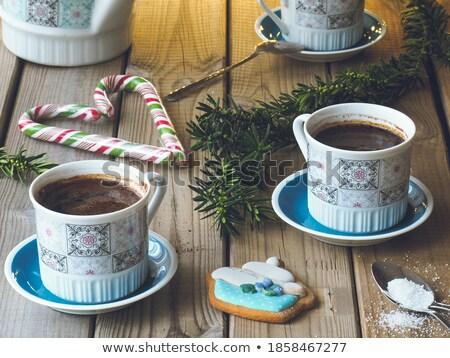 Trzy porcelana łyżka odizolowany biały Zdjęcia stock © compuinfoto