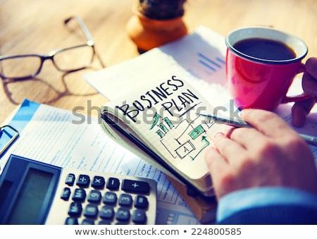 Negócio plano empresário pensando mãos trabalhar Foto stock © silent47
