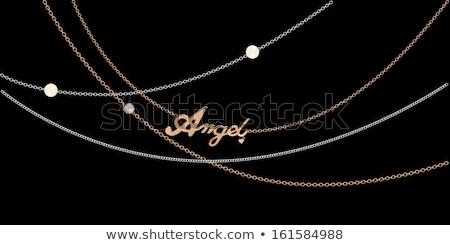 background with jeweled pendants on black Stock photo © yurkina