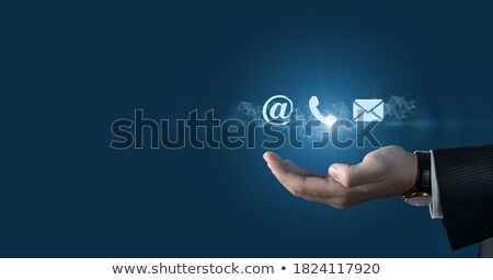Email Icon Shows Online Mailing Communication Support Stock photo © stuartmiles