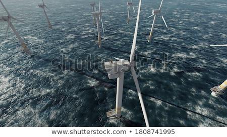 Wind generator wal zee technologie Stockfoto © Discovod