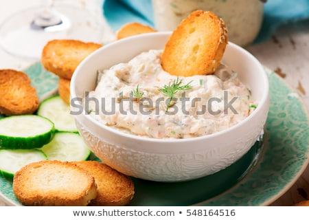 salmon with cream and dill Stock photo © M-studio