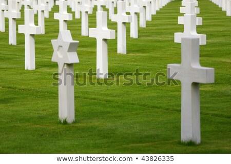 jewish cross in a war cemetery Stock photo © njaj