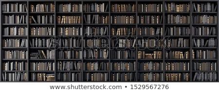 Stock fotó: Könyvek · polc · köteg · különböző · fából · készült · könyv