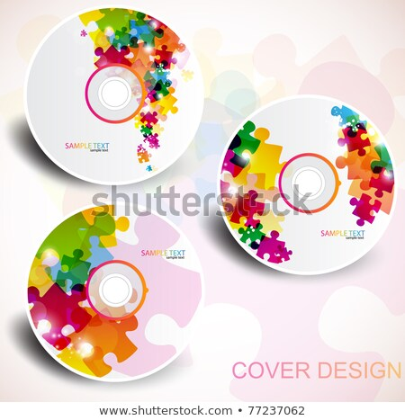 CD-ROM and puzzle.  Stock photo © Kurhan
