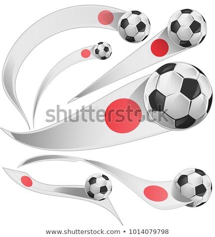 サッカーボール · 日本 · フラグ · ピッチ · サッカー · 世界 - ストックフォト © daboost